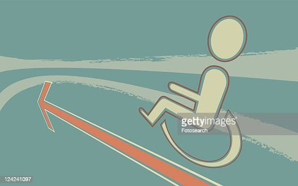close-up of a disabled sign - assistive technology stock illustrations, clip art, cartoons, & icons