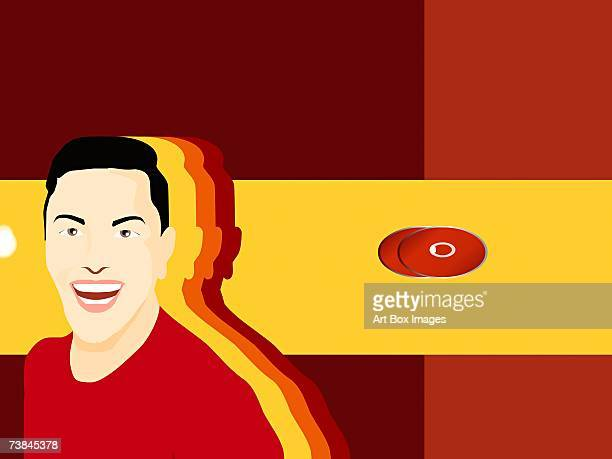 close-up of a man smiling - number of people stock illustrations, clip art, cartoons, & icons