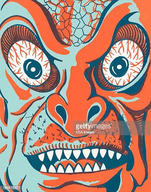 Closeup of a Monster Face