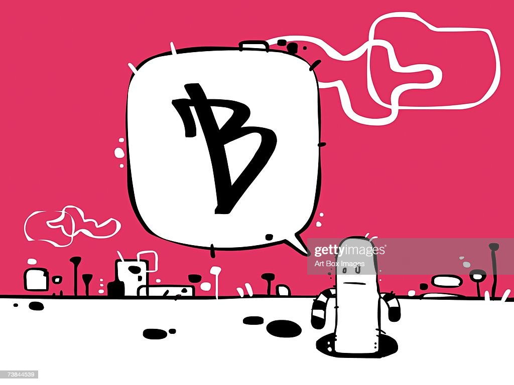 Closeup Of A Person With Letter B In A Bubble High Res Vector Graphic Getty Images