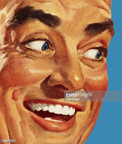 た笑顔の男性のクローズアップ