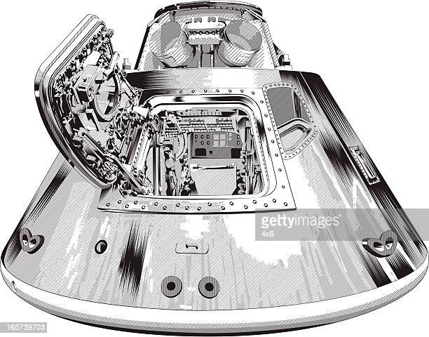 Close-up of a space module
