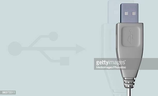 ilustrações, clipart, desenhos animados e ícones de close-up of a usb cable - usb cable