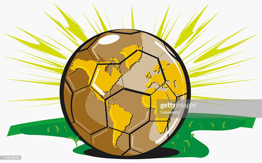 Closeup of a world map depicted on a soccer ball stock illustration close up of a world map depicted on a soccer ball stock illustration gumiabroncs Images