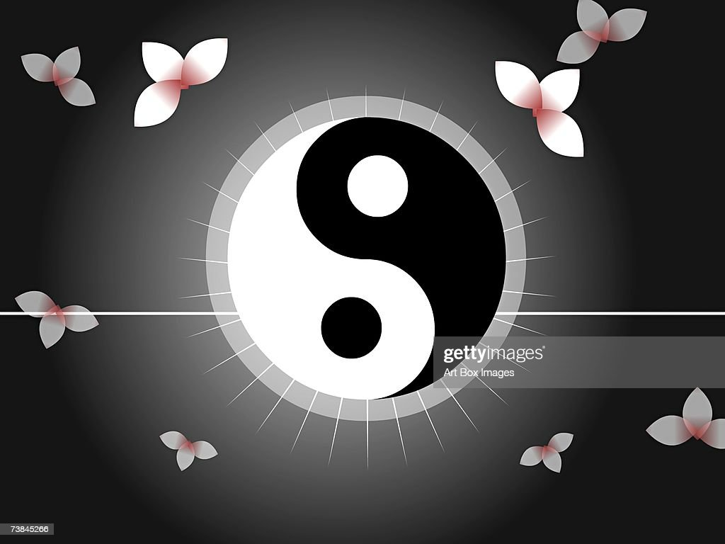 Closeup of a yin yang symbol stock illustration getty images close up of a yin yang symbol stock illustration buycottarizona Choice Image