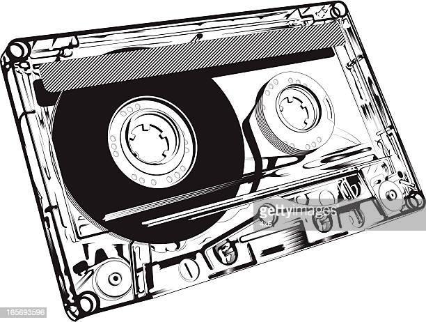 Primer plano de una cinta audio