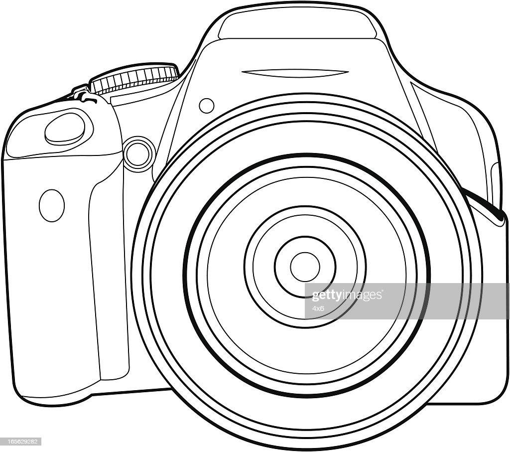 Close-Up Of Digital SLR Camera