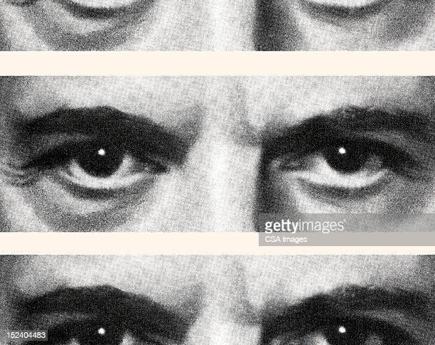 closeup of eyes - close up stock illustrations