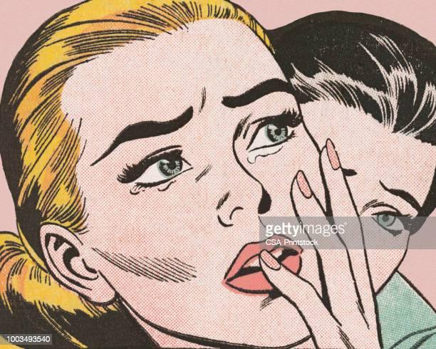 ilustrações de stock, clip art, desenhos animados e ícones de closeup of sad woman - loira