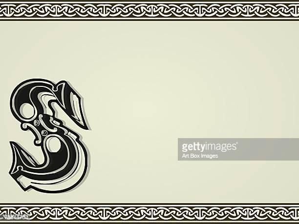 ilustrações, clipart, desenhos animados e ícones de close-up of the letter s - símbolo ortográfico
