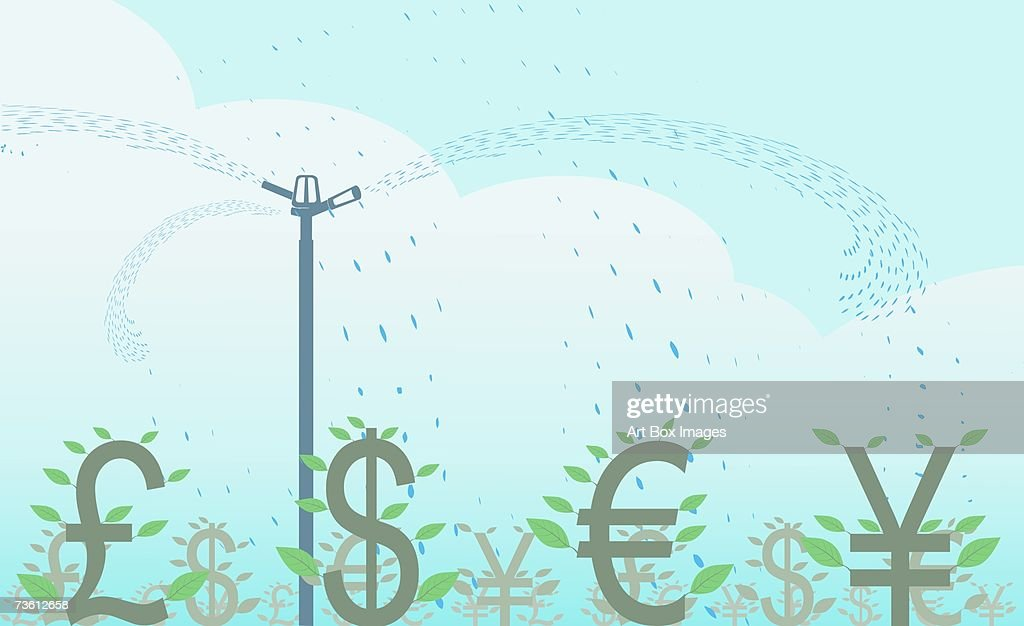 Closeup Of Various Currency Symbols Stock Illustration Getty Images