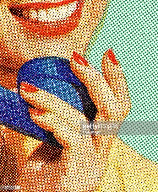 Closeup of Woman on the Phone