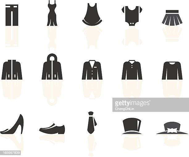 Clothes Icons | Simple Black Series