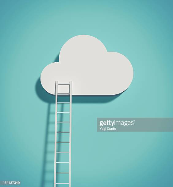 illustrations, cliparts, dessins animés et icônes de cloud and ladder - créativité