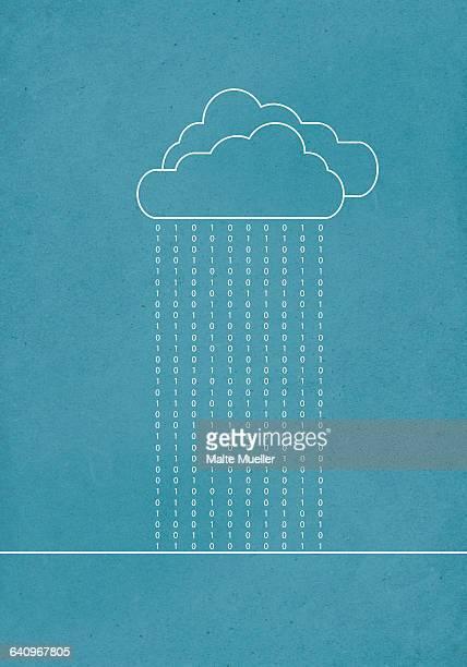 cloud computing against blue background - design element stock illustrations