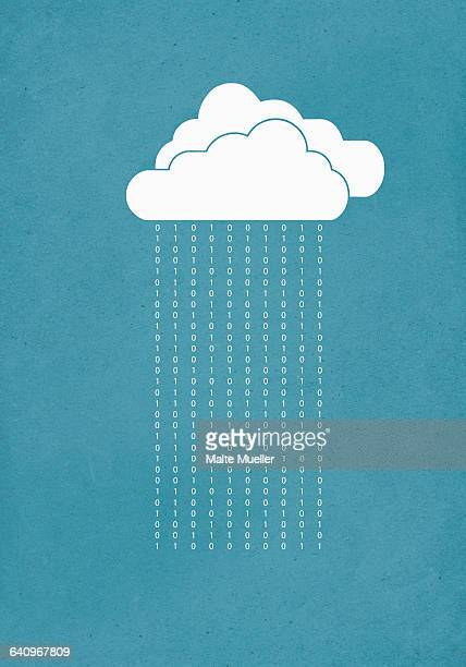 cloud computing against blue background - personal information stock illustrations, clip art, cartoons, & icons
