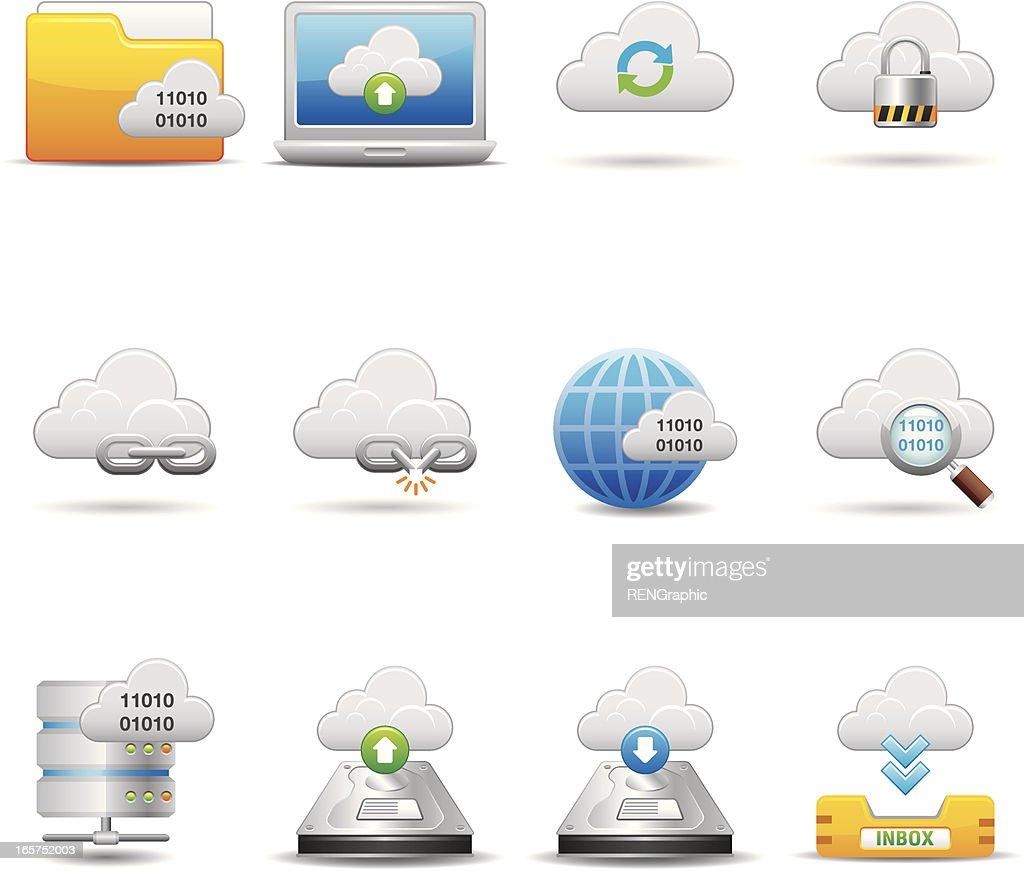 Cloud Network Icon Set | Elegant Series
