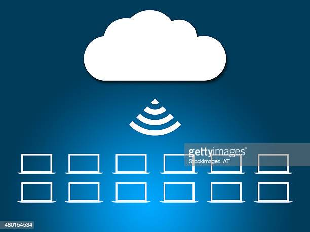 cloud network symbol xxxl - receiving stock illustrations