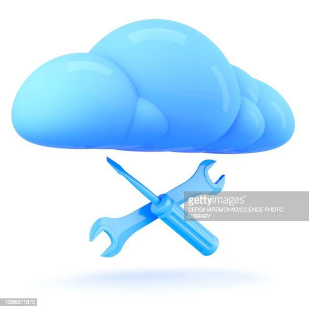 Cloud technology, conceptual illustration