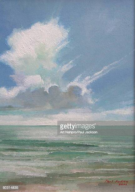 clouds and sea (oil on board) - 油絵点のイラスト素材/クリップアート素材/マンガ素材/アイコン素材