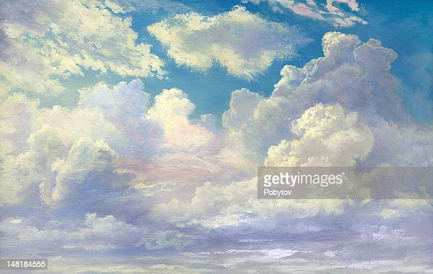 cloudscape - cloud sky stock illustrations