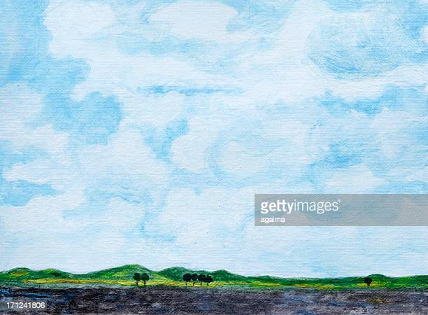 cloudy background - cloud sky stock illustrations