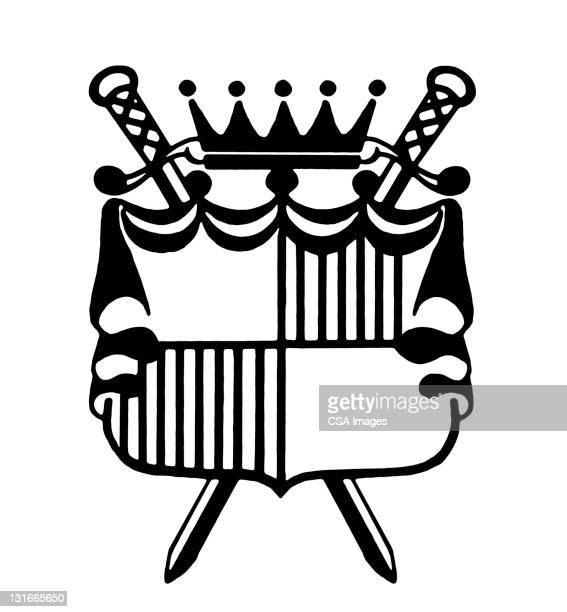 coat of arms - ruler stock illustrations