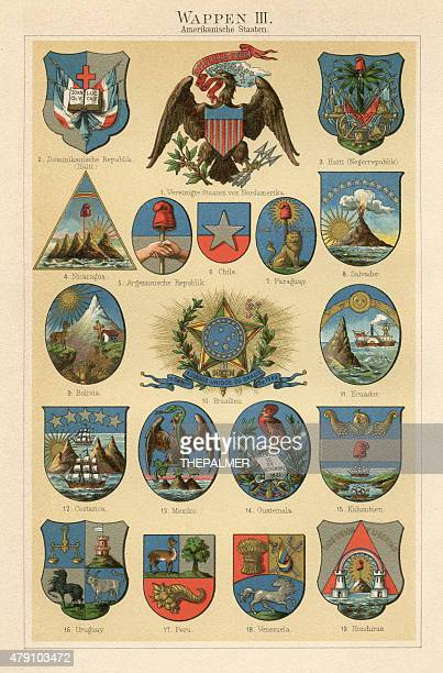 Coat of arms lithograph 1897