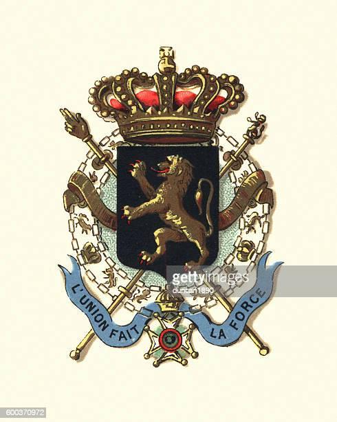 Coat of Arms of Belguim, 1894