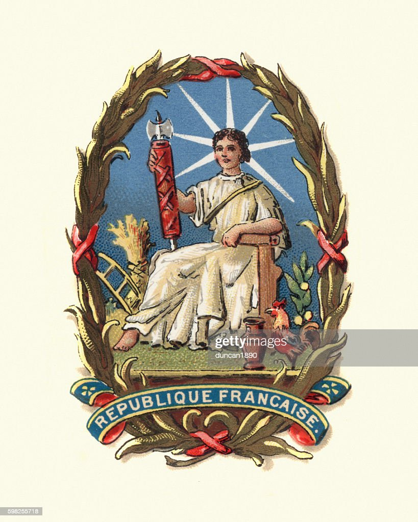 Coat of Arms of France, 1898 : stock illustration