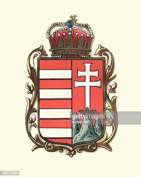 ilustraciones, imágenes clip art, dibujos animados e iconos de stock de escudo de armas de hungría, 1898 - cultura húngara