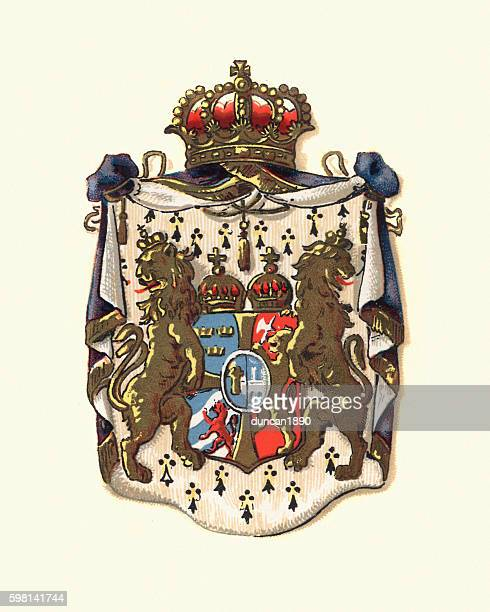 Coat of Arms of Sweden and Norway, 1898