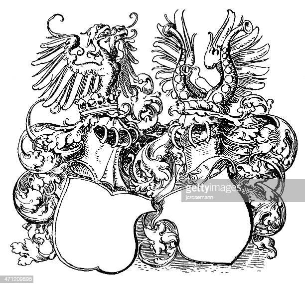 Coat of arms with helmets