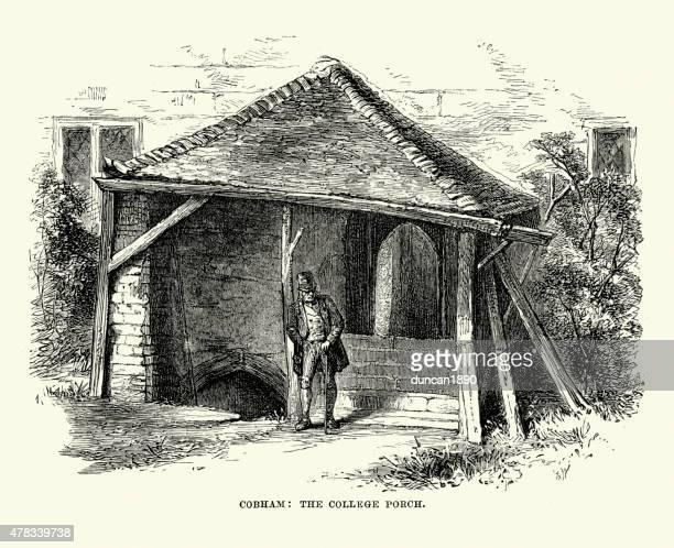 Cobham College Porch, Kent, England