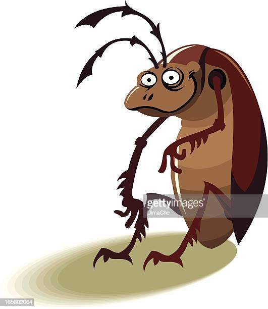 ilustraciones, imágenes clip art, dibujos animados e iconos de stock de cucaracha - cucarachas