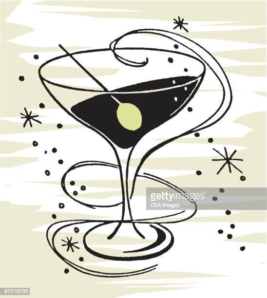 cocktail - vodka stock illustrations, clip art, cartoons, & icons