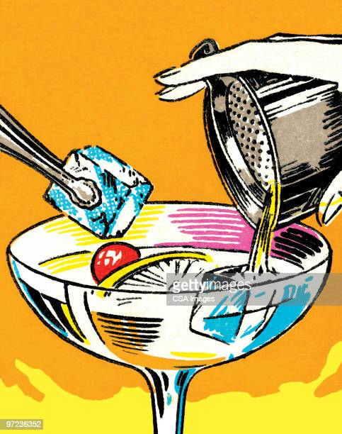 cocktail - happy hour stock illustrations, clip art, cartoons, & icons