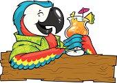 cocktail parrot