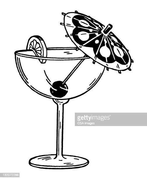 Illustrations et dessins anim s de ombrelle de cocktail - Dessin cocktail ...