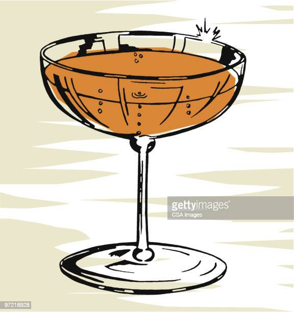 cocktails - wine stock illustrations