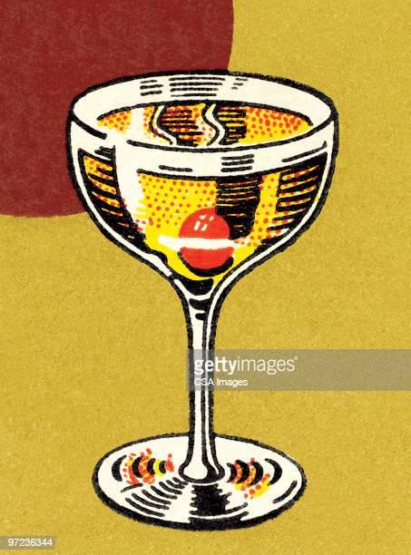 stockillustraties, clipart, cartoons en iconen met cocktails - sterkedrank
