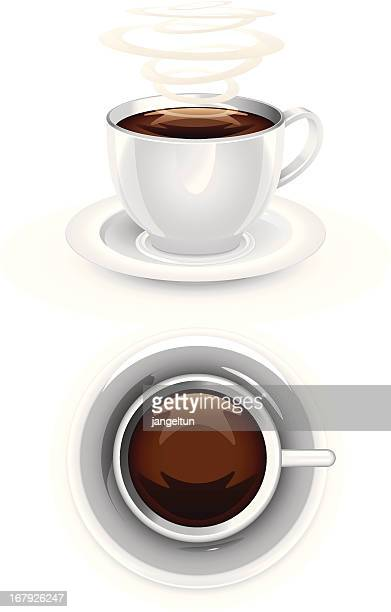 coffee cup - hot drink stock illustrations, clip art, cartoons, & icons