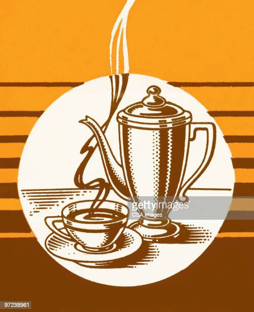 coffee - steam stock illustrations