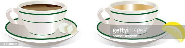 coffee or tea - sugar cube stock illustrations, clip art, cartoons, & icons