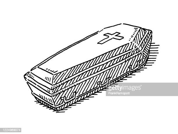 sargzeichnung - sarg stock-grafiken, -clipart, -cartoons und -symbole
