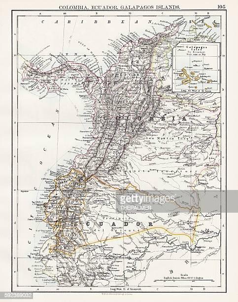 Colombia Ecuador Galapagos map 1897