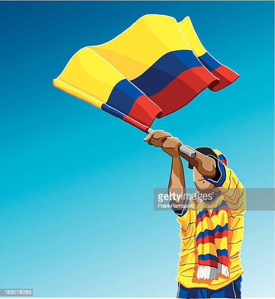 Colombia Waving Flag Soccer Fan