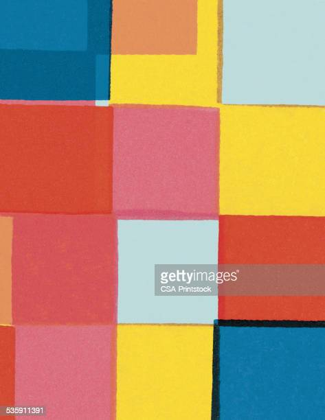 color block pattern - colour block stock illustrations