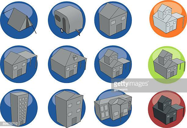 3d color button series - real estate - legal document stock illustrations, clip art, cartoons, & icons