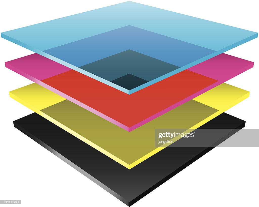 CMYK color layers